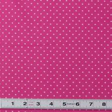 Lot A439 - WHITE DOTS ON PINK by Cottage Pin - Patchwork Fabric by the ½ metre