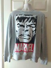 Marvel Comics Hulk graphic grey marl sweat top jumper XL