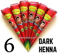 FRESH!! 6  ORGANIC Brown Henna Mehendi Cones Temporary Tattoo TOP QUALITY HERBAL