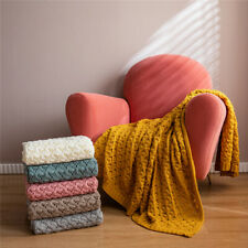Soft Knitted Crochet Blanket Warm Nap Blankets Office Sofa Bed Home Decor