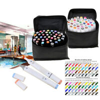 40 Color Oily Alcohol Graphic Art Twin Tip Pen Marker Animation Drawing Pen Set