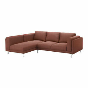 Ikea cover set for Nockeby 3-Seater Sofa with Left Chaise in Tallmyra Rust