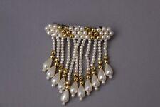 Hair & Head Jewelry Fashion Jewelry Herrliche Haarspange Metal Leinen Perlen Bunt Zum Stecken Neu
