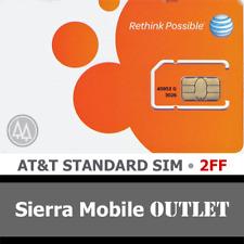 AT&T MINI - STANDARD SIM Card 2FF • GSM 4GLTE • NEW OEM Prepaid or Postpaid
