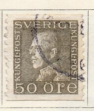 Sweden 1920-25 Early Issue Fine Used 50ore.  118399