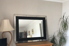Very large chrome/leather mirror - beautiful