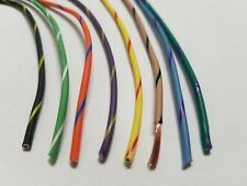 LOT (B) 16 AWG GXL HIGH TEMP AUTOMOTIVE POWER WIRE 8 STRIPED COLORS 25 FT EA