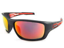 BLOC - Phoenix Gafas de sol Envolventes NEGRO MATE CON ESPEJO ROJO cat.3 lentes