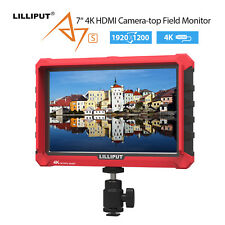 "Lilliput A7S 7"" IPS 4K Camera Field Monitor LCD FHD Mate HDMI For Camcorder DSLR"