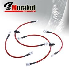 92-00 Lexus SC300/SC400/Supra NT Front Rear Braided Oil Brake Line Red/Black