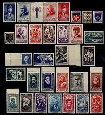ANNÉE 1943 Complète, Neufs * = Cote 85 € / Lot Timbres France