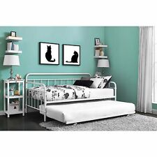 Daybed Adult With Trundle Frame Mattress  Pop Up Guest Bed For Adults Twin
