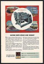 1943 WWII General Motors Diesel Engine AD WW II WW2 M-3 M-4 M-10 tanks AD