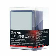 Ultra Pro Toploader Combo Includes Clear Box, 25 Regular Toploaders, 25 Sleeves