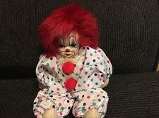 Vintage Clown Doll Handmade in China by Q Tee Clown