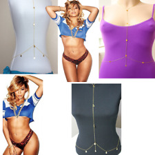 Sexy Gold Beyonce Body Chain Summer Bikini Beach Hippy Bohemian Belly dancer UK