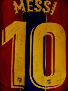 "Barcelona Nike ""MESSI"" Trikot; Handsigniert/Autogrammen Gr L 2021 CHARITY"""
