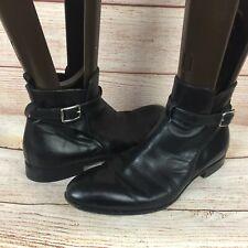 Prada Men's Black Leather Chelsea Ankle Buckle Boots Sz 8.5 M Italian Pull On