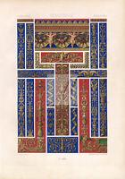 RANAISSANCE Ornamental Frame and Border Designs RACINET Plate LXVI #A056