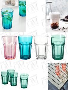 IKEA POKAL Glass Hot Cold Drinks Water Juice Tea Milkshake Beer Glass Set of 2
