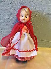 "Vintage Hong Kong Little Red Riding Hood Doll 7"" Sleepy Eyes"