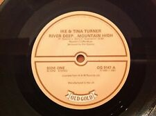 OLD GOLD Collection IKE & TINA TURNER Vinyl 45rpm RIVER DEEP , MOUNTAIN HIGH