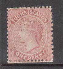 Turks Islands #1 Mint Fine Original Gum Hinged