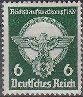 Stamp Germany Mi 689 Sc 490 1939 WW2 3rd Reich Emblem Eagle Plaque MH