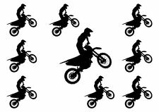 Motorbike Birthday Silhouettes Edible A4 ICING SHEET Cake Topper Frosting.26