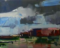 JOSE TRUJILLO - NEW Works OIL PAINTING 8X10 Fauvist Abstract Landscape Clouds