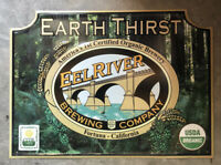 Eel River Brewing ~ Tin Tacker ~ Metal Beer Sign ~ Organic Beer ~ IPA