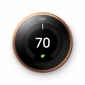Nest Learning Thermostat 3rd Generation - Copper, Works with Amazon Alexa