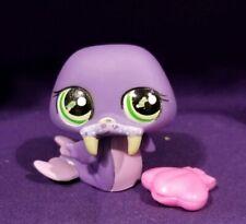 Littlest Pet Shop #1511 Walrus Purple Mauve Green Tusk Oyster Shell Green Eyes