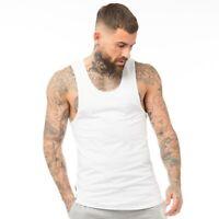 Gym King Mens Designer Embroidery Stringer Vest Sleeveless Tank Top T Shirt Tee