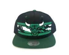 4fc4d793d36 Mitchell   Ness NBA Chicago Bulls Black   Green Snapback Adjustable Hat Cap