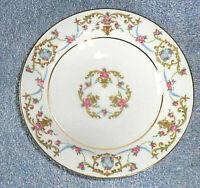 """Vintage  Sango China Fleur De Le White Rococo Soup Bowls 7 1/2""""  Set of 4"""