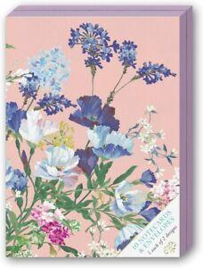 Punch Studio Boxed Note Card Set, Set of 10 Cards/Envelopes, Floral Design