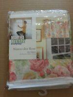 Martha Stewart Everyday Poly Cotton Watercolor Rose Single Window Valance 8787