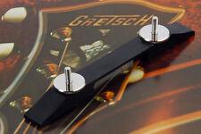 Gretsch Ebony/Nickel Bridge Base For Arch Top Guitars 0080631000 74mm w/20mm NEW