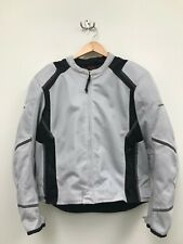 Men's FIRST GEAR Motorcycle Riding Padded Bike Jacket - Grey - Size XL