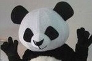 Handmade Panda Cute Animal School Team Cheerleading Mascot Costume Head Only New