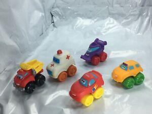 Tonka Trucks Lot of 5 Toy small - ice cream truck, Police car, fire truck, race