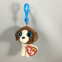 2021 Ty Beanie Boos MUDDLES White Brown Spotted Dog Key Clip Plush (3 Inch) MWMT