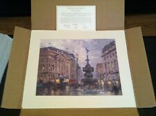 Thomas Kinkade Piccadilly Circus Lithograph, MINT