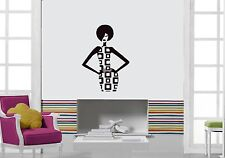 Wall Stickers Vinyl Decal Beautiful Girl Fashion Modern Style ig1336