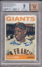 WILLIE MAYS 2013 TOPPS HERITAGE BASEBALL REAL ONE AUTOGRAPHS #ROA-WM BGS 9/AU 10