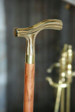 "WALKING CANE Wood & Smooth Handle 36"" COMFY DERBY STICK~Vintage Antique Style"