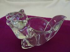 Avon Marked Lead Crystal Squirrel Candle/Votive Holder-Never Used Condition-