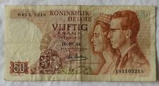 Belgium 50 Francs banknote dated May 16 1966