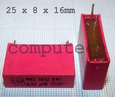 0,56uF x 250V Condensatore Policarbonate VISHAY ROEDERSTEIN MKC 1862 L2  1 pezzo
